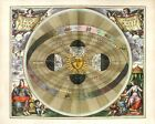 """Beautiful Ancient Map of the Universe and Zodiac CANVAS ART PRINT 24""""X18"""" #6"""