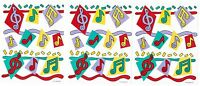 3 Sheets Vintage Music Notes Gibson Greetings 1991 Stickers