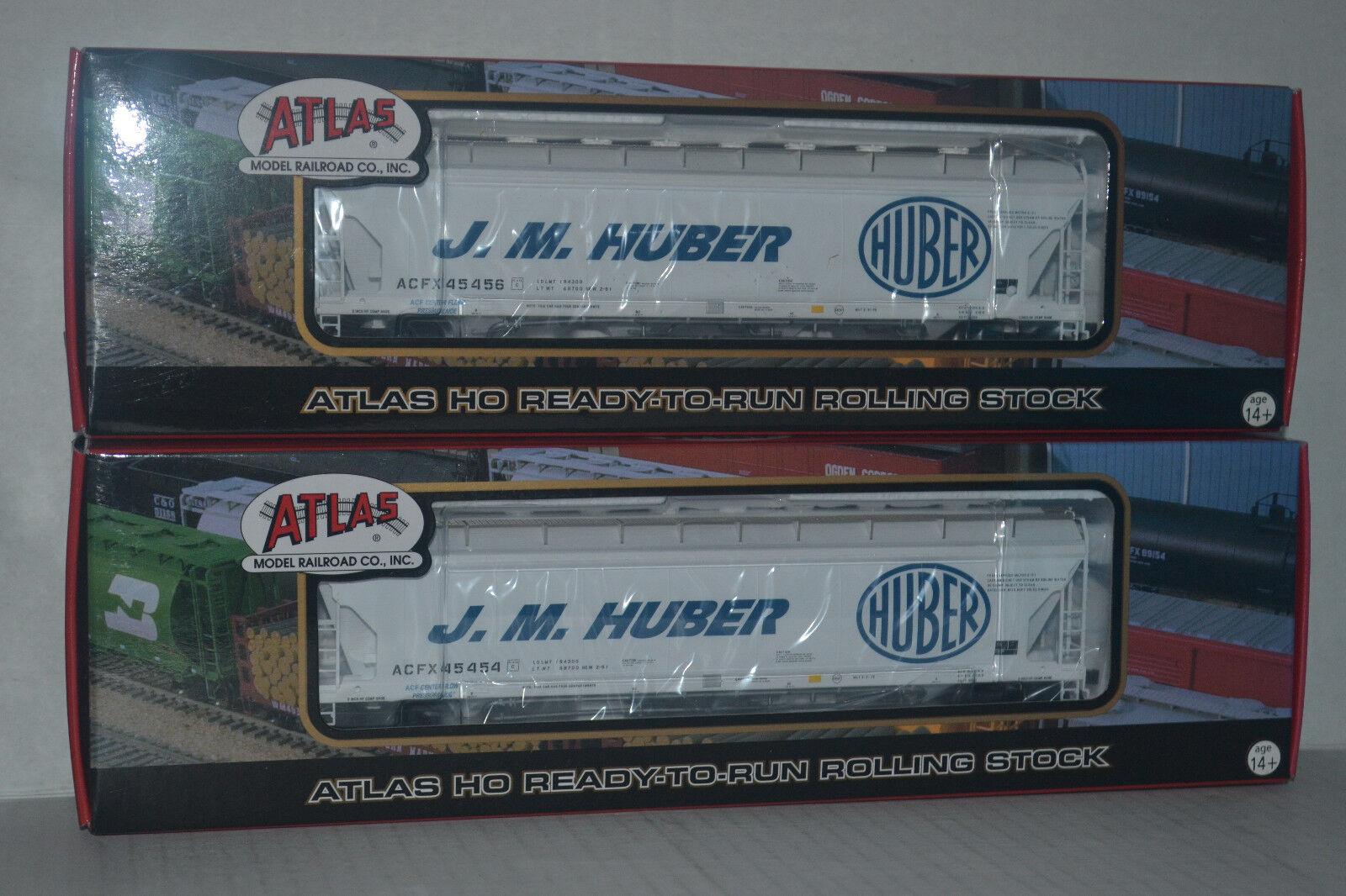 2 Atlas J.M. Huber ACF Pressureaide  Hoppers Ho Scale 20001065, 20001066