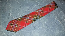 "LOCHCARRON ROYAL STEWART Mens Tie Red Tartan Plaid Wool Scotland 57"" x 3"""