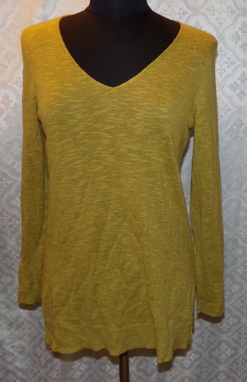 Eileen Fisher Petite PM Light Weight Sweater Top Organic Linen Cotton Blend