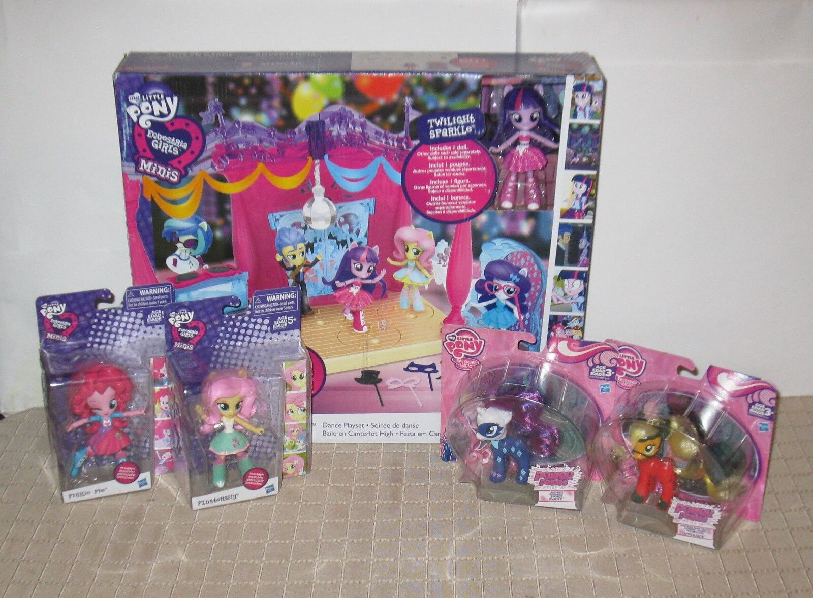 My Little Pony Equestria Playset + Extra Figures MB FREE SHIPPING