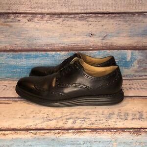 Cole-Haan-Grand-OS-Leather-Wingtip-Oxfords-Shoes-Black-Dress-Men-s-9-5-150