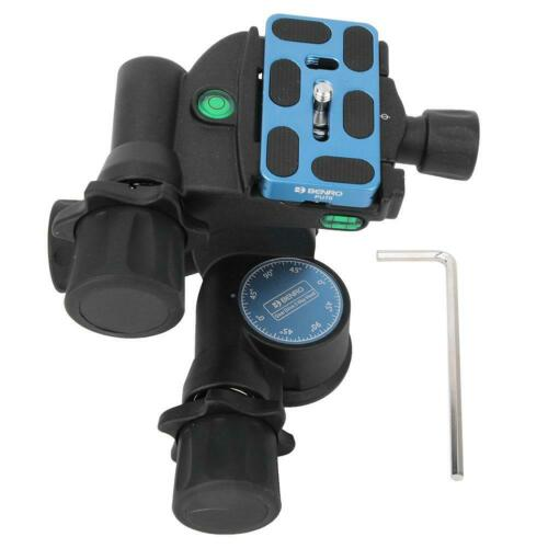 Pro BENRO GD3WH Tripod Geared Head /& PU70 QR Plate for DSLR Canon Nikon DR