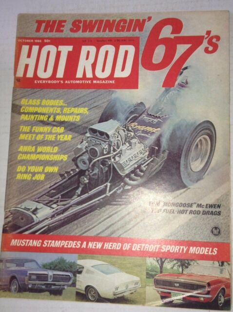 Hot Rod Magazine Tom McEwen Hot Rod Drags October 1966 042817nonrh