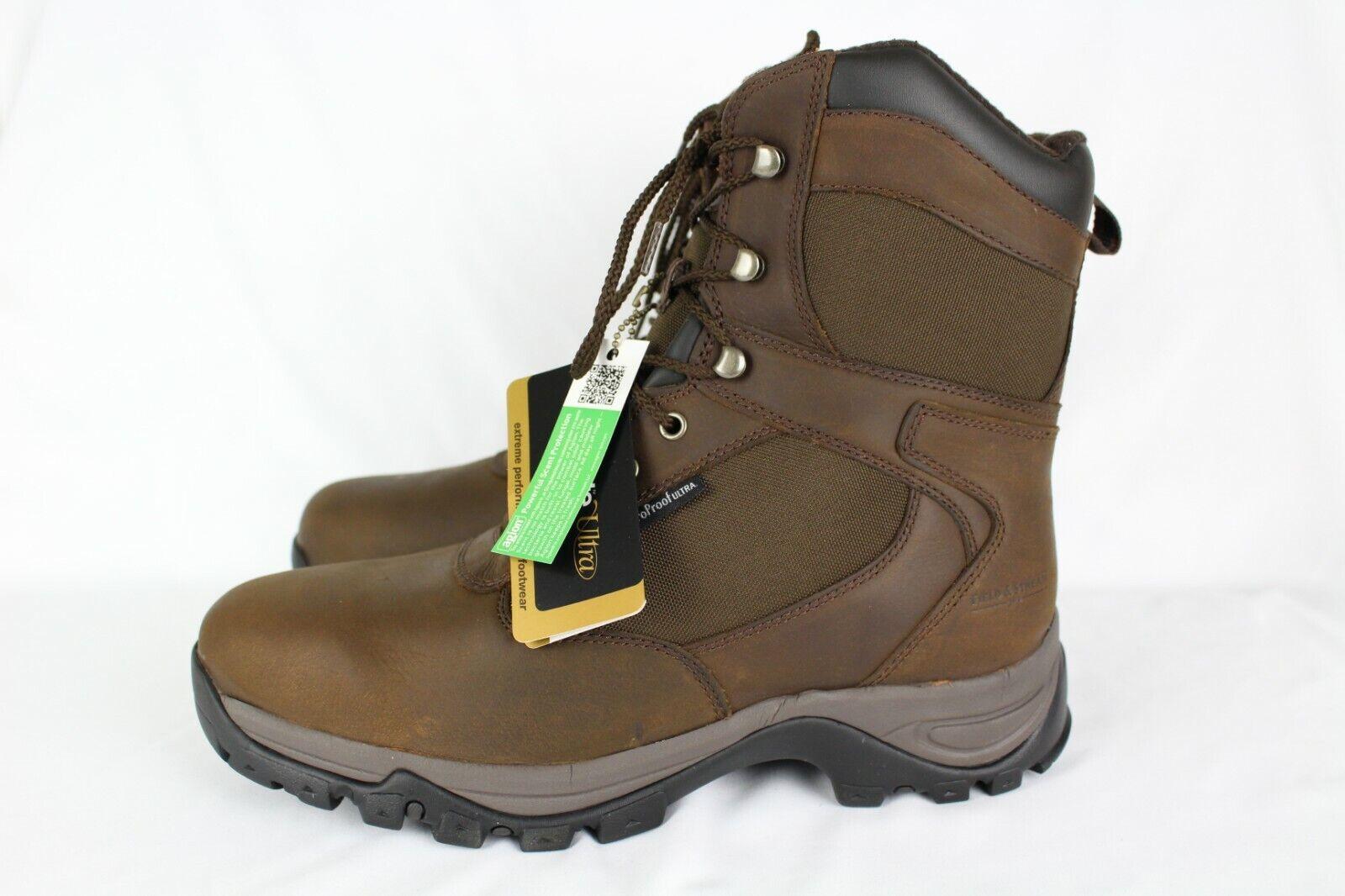 New Field & Stream Men's Woodsman 800 Gram Hunting Boots Size 12m Dark Brown