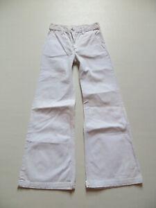 Levi-039-s-Schlag-Jeans-Hose-W-27-L-30-weiss-orig-70-039-er-Schlaghose-High-Waist