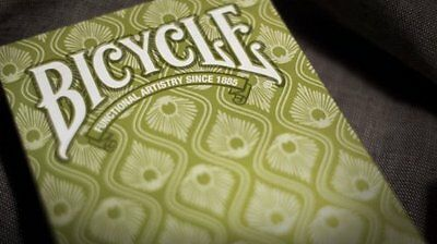 1 Deck GREEN Bicycle® Peacock Stylish Simple Splendid Playing Cards Bird New