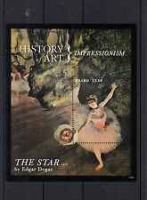 Palau 2013 MNH History of Art Impressionism 1v S/S Edgar Degas The Star Painting