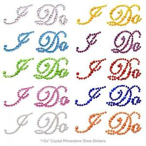 Rhinestone-Decals-Shoe-Stickers-Wedding-034-I-Do-034-Crystal-Applique