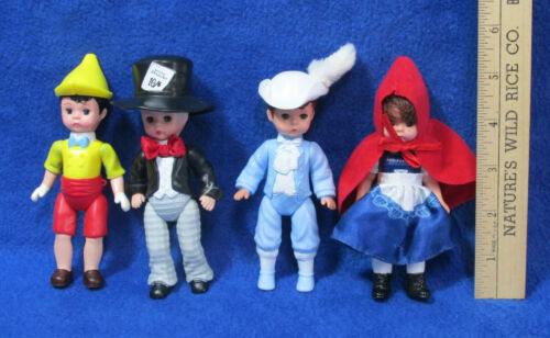 4 McDonalds Madame Alexander Dolls Mad Hatter Prince Charming Pinocchio 2010