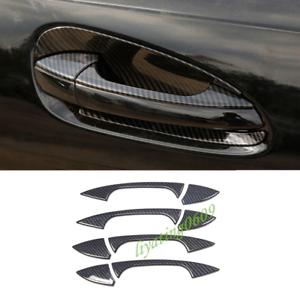 Carbon Fiber Outer Car Door Handle Cover Trim For Mercedes-Benz GLE W166 15-18