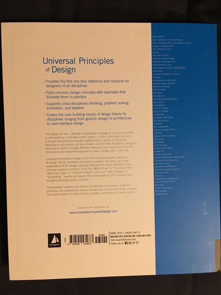 Universal Principles of Design, Lidwell, Holden & Butler