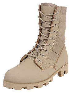 Military-Style-Jungle-Boots-Desert-Tan-Boot-Rubber-Panama-Sole-Rothco-5909