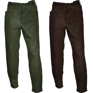 Details about Boots Trousers Pants Hunting Pants outdoorhose Leather Boots Pants Olive + Brown show original title