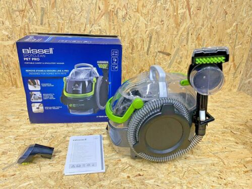 Bissell 15585 Spot Clean Pet Pro Portable, Black/Green, 750 W   POWER TURBO BRUSH