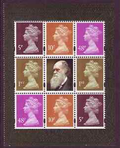 GB 2009 Machin Stamps Block From Charles Darwin Booklet Pane SG Y1762L UM - Southern England, United Kingdom - GB 2009 Machin Stamps Block From Charles Darwin Booklet Pane SG Y1762L UM - Southern England, United Kingdom