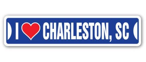 SOUTH CAROLINA Aluminum Street Sign sc city state us wall roa I LOVE CHARLESTON