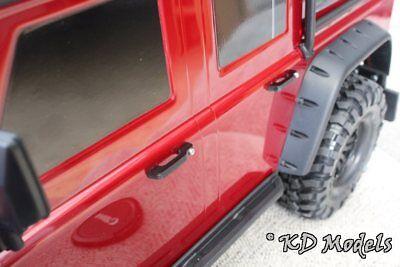 4X Door Handles W// Screws for Traxxas TRX-4 TRX4 D110 D90 Fit 1:10 Scale Crawler