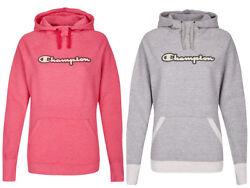 Original Champion Hoodie für Damen, Kapuzenpullover, pink, grau-weiss, Hoody