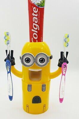 Toothpaste Dispenser squeezer Toothbrush holder Kids Elderly aid UK