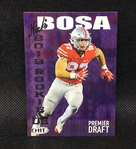 2019 Sage Hit Premier Draft Nick Bosa RC rookie #1