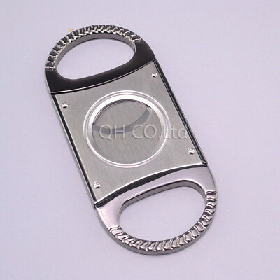 Whole steel Gold-plated Double Blades Cutter Cigar Cutting Tool For Men Cohiba