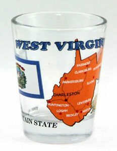 WEST-VIRGINIA-THE-MOUNTAIN-STATE-ALL-AMERICAN-COLLECTION-SHOT-GLASS-SHOTGLASS