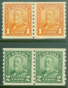 EDW1949SELL: Kanada 1929 Scott # 160-61 Spule Paar F-Vf , Postfrisch Og. Katalog