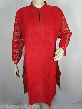 Hand Embroidered, Aari Embroidery Cotton Women Kurti Top Tunic-ALL SIZES AVAIL