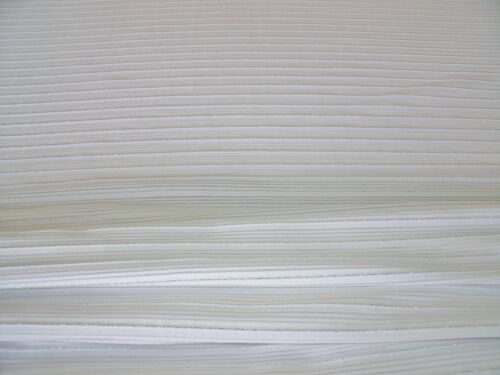 DRESS FABRIC-FREE P/&P LUREX  STRETCH SHADOW STRIPE JERSEY-WHITE//SILVER