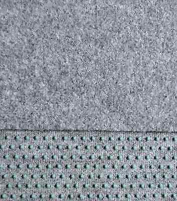Kunstrasen Rasenteppich mit Noppen samtweich 550 x 150 cm Farbe hell-grau