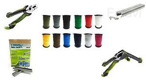 Expanderseil 5 mm RAPID Zange Draht Klammern Seil - 12 Farben - 240 Varianten!!