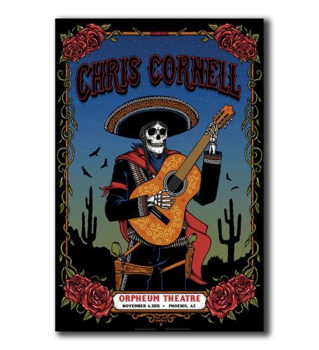 T-123 Art Poster 1964-2017 Chris Cornell Soundgarden Lead Silk 36 27x40IN
