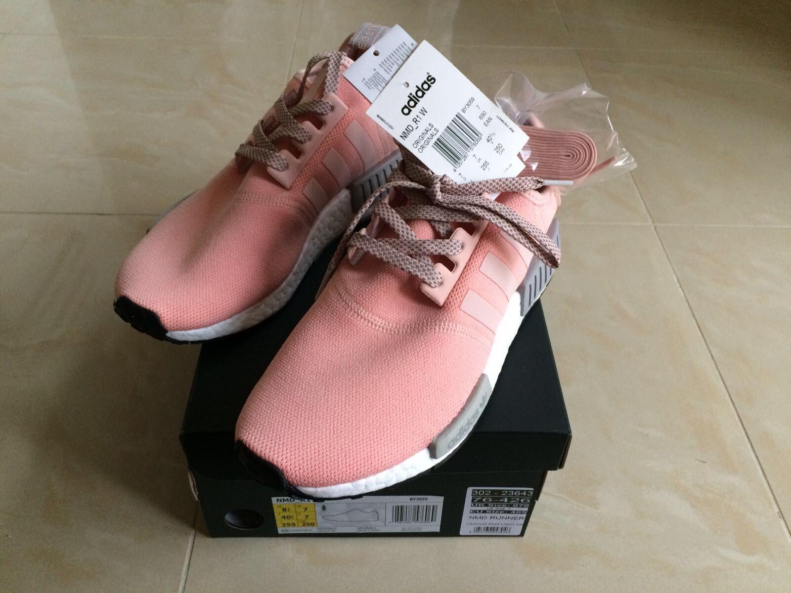 ADIDAS NMD R1 RUNNER RAW VAPOUR PINK GREY OFFICE EXCLUSIVE 6 ALL SIZES 4 5 6 EXCLUSIVE 7 8 9 596e6a