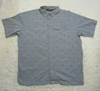 $65 Under Armour Fish Hunter SS Fishing Men's Size XL Blue Shirt NWT 1290745-477