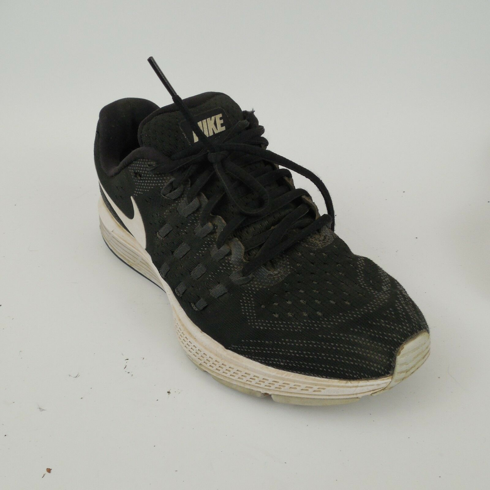 Womens Nike Air Zoom Vomero 11 Black/White 818100-001 sz 7 M No Insoles Sneakers