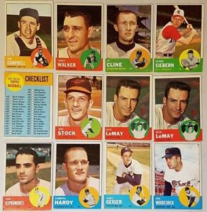 1963-TOPPS-BASEBALL-CARDS-YOU-U-PICK-10-PICKS-EX-CONDITION-COMPLETE-YOUR-SET