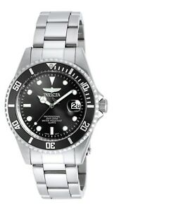 Invicta-8932OB-Men-039-s-Pro-Diver-Black-Dial-SS-Bracelet-Dive-Watch