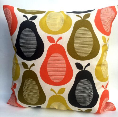 Orla Kiely Retro Scribble Pear cushion cover 14 x 14 inch