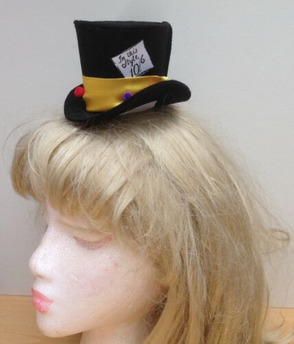 Mad Hatter Inspired mini hat fascinator