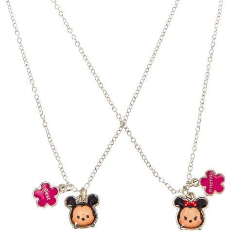 Disney Tsum Tsum Best Friend Necklace Set of 2 Mickey Mouse Minnie BFF Besties