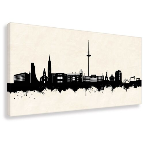 Skyline Kiel SW Kunstdruck auf Leinwand div. Größen Street Art Graffiti Bild