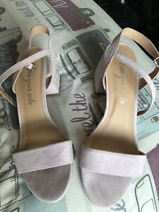 Details about NEW LOOK Ladies Lilac Suedette Block Heeled Sandals Size740