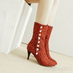 womens-leopard-print-slim-mid-heel-mid-calf-boots-pointed-toe-plus-shoes-Toe