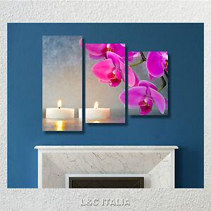 Zen candele orchidee quadro moderno stampa tela quadri arredo casa spa benessere ebay - Arredo bagno zen ...
