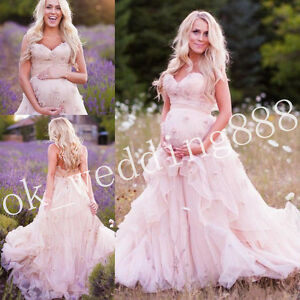 Blush pink maternity wedding dress 2018 sweetheart pregnant bridal image is loading blush pink maternity wedding dress 2018 sweetheart pregnant junglespirit Gallery