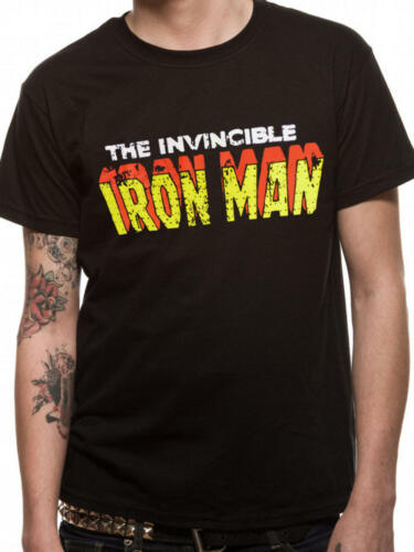 The Invincible Ironman Official Marvel Comics Black Mens T-shirt