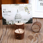 10x Wooden Wedding Party Table Number Stand Place Name Memo Card Holder