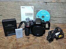Nikon D3300 24.2MP Digital SLR Camera - Black (Body Only) - Low Shutter Count